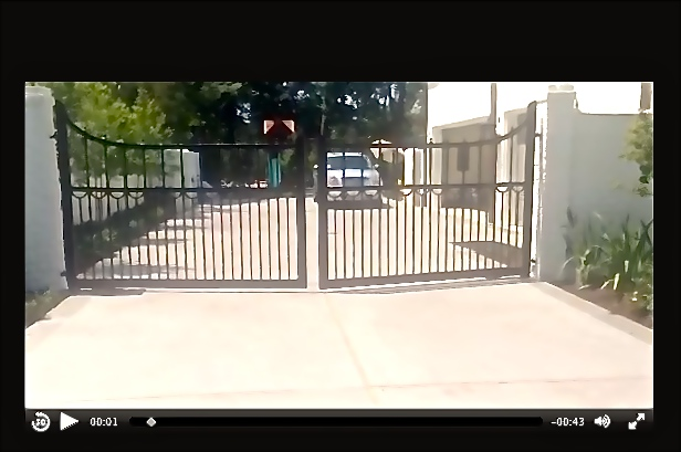 Click image to watch the video of this swing gate install.
